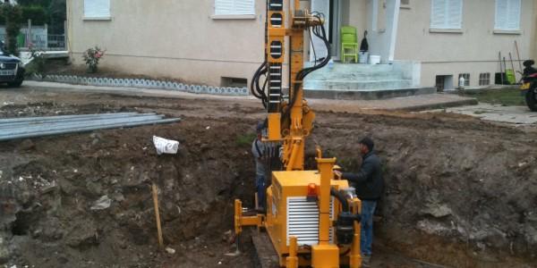 forage micropieux pour construction d'une villa val d'oise
